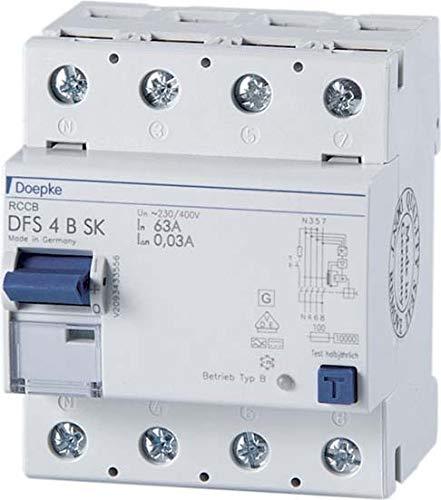 Doepke FI-Schalter DFS4 025-4/0,03-B SK Fehlerstrom-Schutzschalter 4014712148468