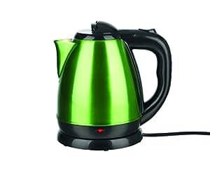 GOURMETmaxx 09705 Bouilloire design moderne en inox   2200 W   Capacité 1,5 litrese   limegreen