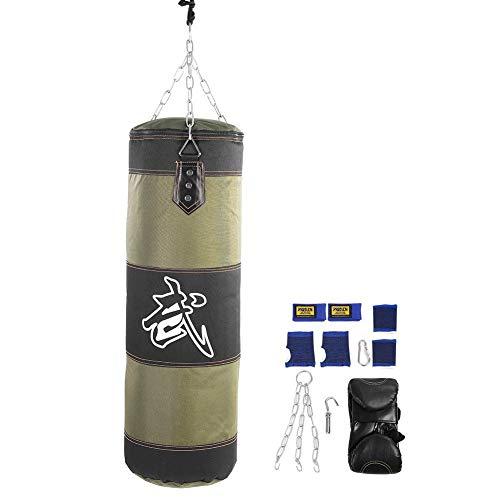 Alomejor Raining Fitness MMA Boxing Bag Hook Saco de Arena Saco de Arena(1M-Verde)