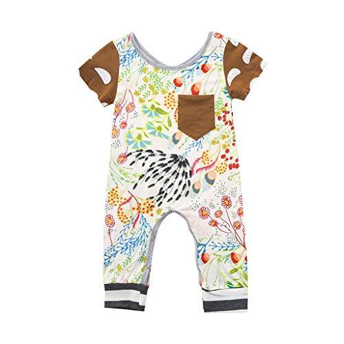 Knowin-baby body Neugeborene Baby Boy Girl Floral Strampler Overall Outfits Kleidung Baby Langarm Floral Einteiler Strampler Bodysuite Hochwertig Lässig und Hübsch Unisex Floral Langarm Body