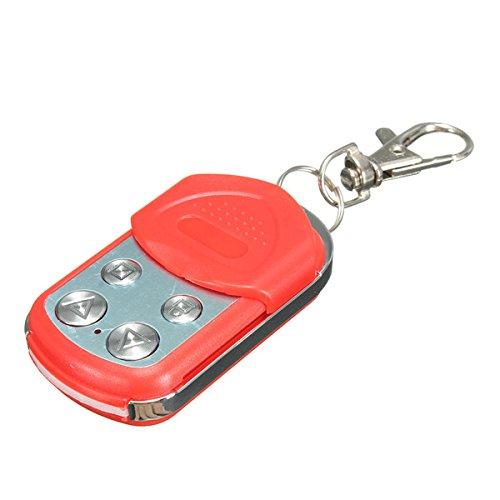 Preisvergleich Produktbild 4 Buttons Electric Garage Gate Door Remote Control Key Fob 433mhz Cloning Red