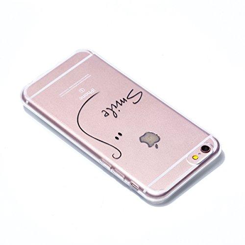 iphone 6S Plus Hülle, iphone 6 Plus Handyhülle, iphone 6 6S Plus Schutzhülle, Cozy Hut Extra Dünne Soft iphone 6 Plus/6s Plus Case Schale Anti-Fingerabdruck Stoßfest Bumper Case Handyhülle Schutzhülle lächeln