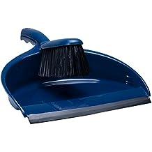 Plastic Dustpan and Brush Set Blue, 2 Piece