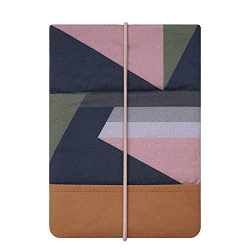 Kuratist eBook Reader Sleeve - Handgemacht aus 100% Baumwolle und Kantenschutz aus Papier in Lederoptik (100% Vegan) (6 Zoll/Tolino Shine 2/3 HD/Vision 2/3/4 HD, Graphic)