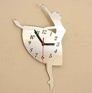 Horloge miroir-Ballerine - 40 cm x 25 cm