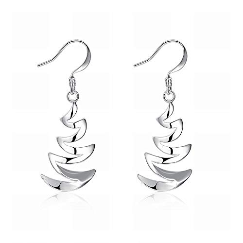 Paar Halbmond Bay Ohrringe Geometrische Silber Ohrringe Damen Edelstahl Allergie Silber Sparkle Exquisit Zirkonia Oxid Haken Ohrringe Business -
