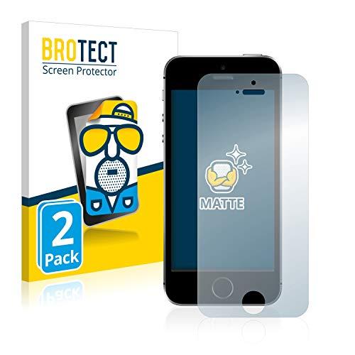 BROTECT Entspiegelungs-Schutzfolie kompatibel mit Apple iPhone SE (2 Stück) - Anti-Reflex, Matt