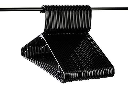 Neaties Schwarz Kunststoff Kleiderbügel Premium Medium Gewicht Qualität W/Bar Haken, American Made Langlebige Qualität Kleiderbügel, 30Stück (Walmart Gewichte Bei)
