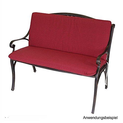 Auflage Tacoma 2-Sitzer Gartenbank 140x88x7cm rot Bankauflage Bankkissen