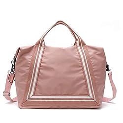 KURANZL Women ' S Waterproof Oxford Cloth Handbag Shoulder Bag Sports Fitness Bag Portable Travel Storage Bag,Pink