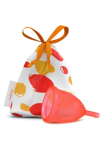 'LadyCup - Menstruationstasse'Orange, talla- S (Small)