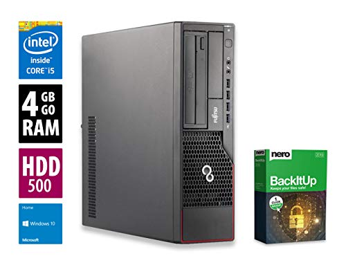 Fujitsu Esprimo E700 DT | PC | Computer | Intel Core i5-2400 @ 3,1 GHz | 4GB DDR3 RAM | 500GB HDD | DVD-Brenner | Windows 10 Home (Zertifiziert und Generalüberholt) -