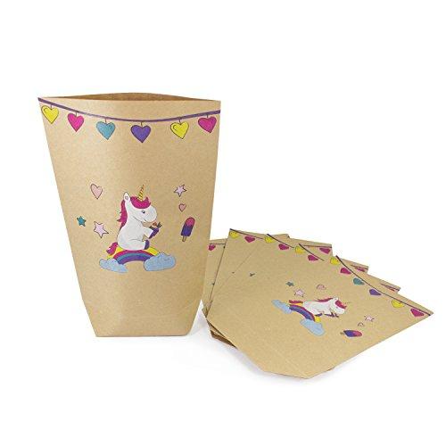 Oblique-Unique Einhorn Geschenktüten 6 Stk Einhörner Papiertüten Kinder Geburtstag Feste Party