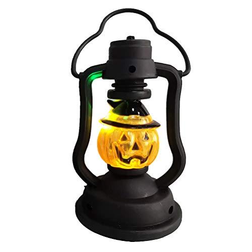Amosfun Halloween Kürbis Laterne Light Jack O 'Lantern Ornamente Süßes oder Saures Kürbis Eimer für Halloween Partydekorationen