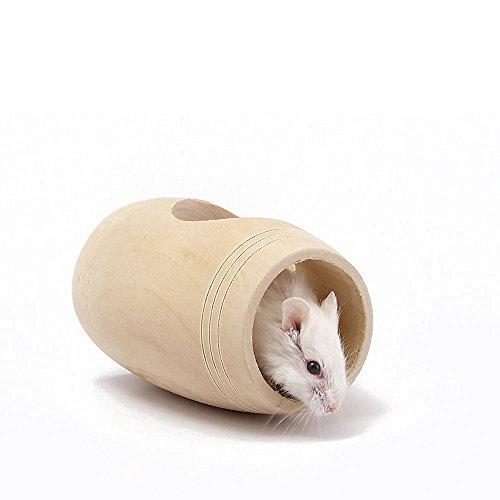 achte Hamster Toys, natürliche Tunnel Tube Cage & Holz Gangplank stehen Plattform & Hamster Schaukel mit Glocke für kleine Tier Hamster Chipmunks Papagei Spielzeug (3er Pack) (Halloween-übung Ideen)