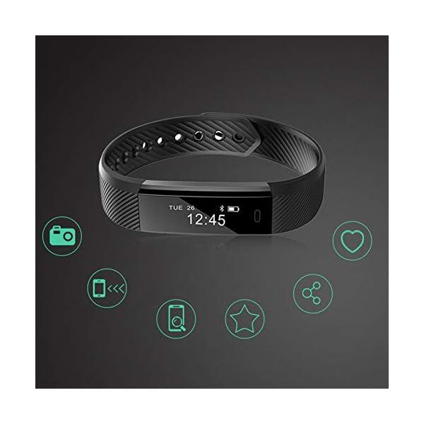 DNelo Reemplazo de Silicona Muñequera para Veryfit Id115 Id115Plus Inteligente Pulsera Correa de Reloj - para Veryfit… 9