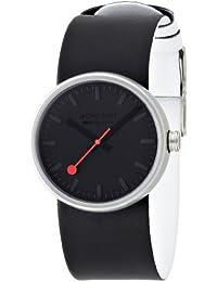 MONDAINE A6583030614SBB - Reloj analógico de cuarzo para mujer, correa de cuero color negro