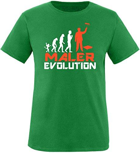 EZYshirt® Maler Evolution Herren Rundhals T-Shirt Grün/Weiss/Orange