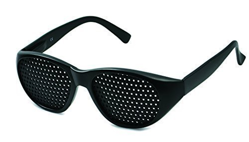 Rasterbrille 415-JGG ganzflächiger Raster, schwarz