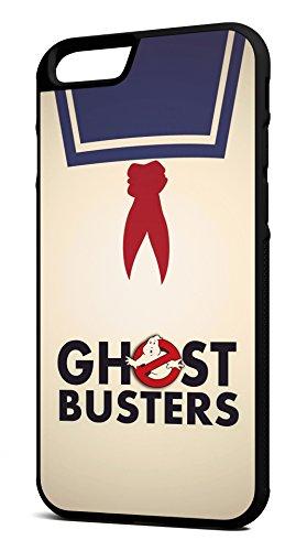 Customcases Vintage Ghostbusters Stay Puft Marshmallow Mann 1980's Klassischer Film Schwarz Gummi-Telefon-Kasten für iPhone 6/6s