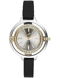 Jean Bellecour – al0275 – 3 – Reloj Mujer – Cuarzo Analógico – Reloj Plata – Pulsera cuero negro