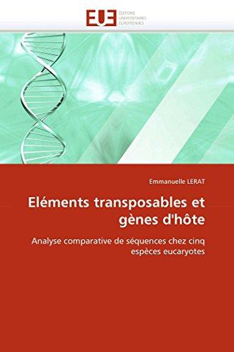 Eléments transposables et gènes d''hôte par Emmanuelle LERAT