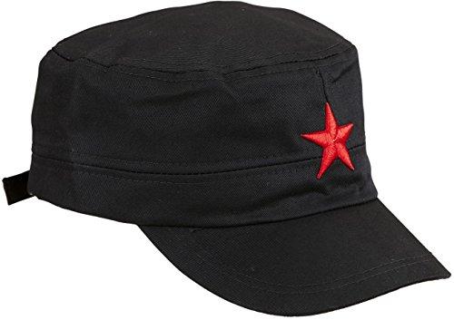 (Widmann 01127 Base Cap mit Stern, für Erwachsene, Schwarz)