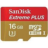 Carte Mémoire microSDHC SanDisk Extreme PLUS 16Go + Adaptateur SD jusqu'à 95Mo/s, Classe 10, U3