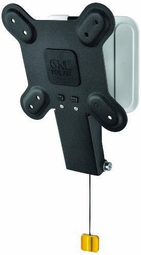 One For All Ultra Slim TV-Wandhalterung von One For All NEIGBAR (15°)- TV-Bildschirmgröße 13-27 Zoll - Für alle TV-Gerätetypen - Max. Gewicht  20kg -Schwarz Weiß - SV3120