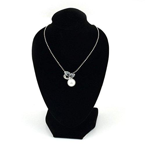 beiguoxia schwarz Samt 3D Form Halskette Brustumfang Halter Ständer Schmuck zeigt für Craft zeigt (Schmuck Ständer Halter)