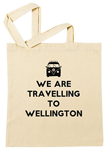 Erido We Are Travelling to Wellington Einkaufstasche Wiederverwendbar Strand Baumwoll Shopping Bag Beach Reusable