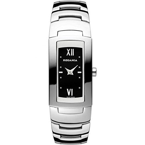 Rodania 25036–46–Montre bracelet pour femme, bracelet en acier inoxydable couleur argent