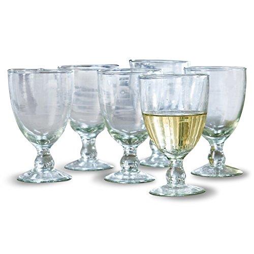 Loberon Weinglas 6er Set Moière, Glas, H/B/T/Ø 14/9 / 9/9 cm, klar