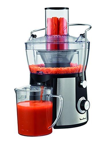 Moulinex Juice Express JU550D10 Licuadora, 800 W, 1.4 litros, 2 Velocidades, Negro/Plateado