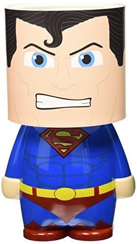 Look Alite gr90859 DC Comics Superman Lampe de bureau à lED avec fonctionnement à batterie ou micro USB, plastique, multicolore, 25 x 13 x 13 cm