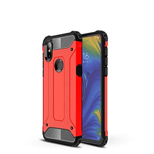 Botongda Funda Xiaomi meu Mix 3 5G,Carcasa Resistente a los Golpes y a los arañazos con Tapa Posterior con una combinación de PC Resistente y TPU Suave para Xiaomi Mi Mix 3 5G(vermell)