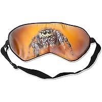 Schlafmaske, Kunstdruck, Maulbeerseide, Augenmaske, Jumping Spider, schwarze Augen, gelbe Insekten, Arachnid süß preisvergleich bei billige-tabletten.eu