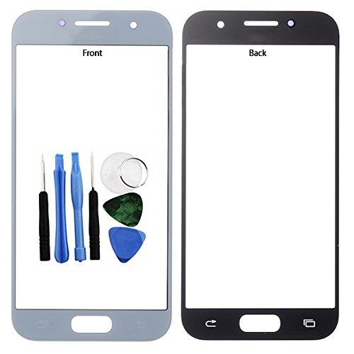 BisLinks®® Für Samsung Galaxy A3 2017 Front Outer Glas Screen Linse Cover Blau A320 + Tools Ersatz Teil
