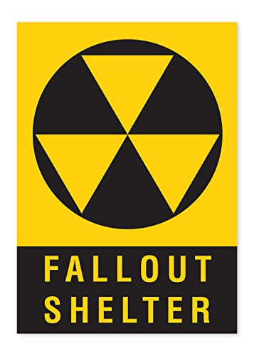 –Selbstklebendes Vinyl Aufkleber Sicherheit (Fallout Shelter Sign)