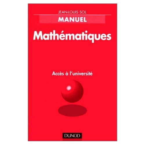 Mathématiques accès à l'université