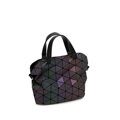 Frauen Handtasche Designer Marke großen europäischen Stil leuchtende geometrische Schultertasche