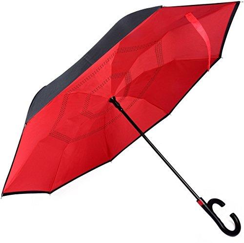 Zwei Mädchen Für Kostüme Personen (Regenschirm Reverse doppelte Schicht winddicht, Regenschirm zusammenklappbar mit Freisprecheinrichtung Griff in Form C, Regenschirme von Reise Automatische Öffnung und Verschluss für Damen und Herren,)