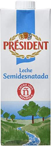 President Leche Semi-Desnatada - Pack de 6 x 1 l - Total: 6 l
