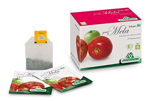 infuso bio frutta mela preparato per tisane 20 filtri