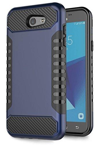 Galaxy J7V Fall, J7Prime Fall, Galaxy J7Sky Pro, Galaxy J7perx Fall, Moment dextrad [Rutschfeste Grip] [Dual Layer] stoßfest Slim Kratzfest Schutz J72017Fall, Blau/Schwarz (T-mobile Samsung Cell Phones)