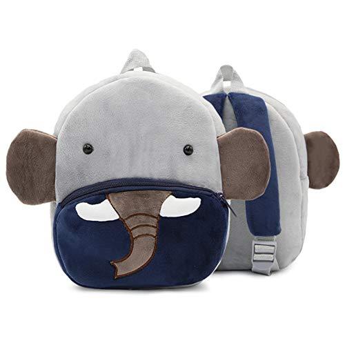 Doitsa 1pcs Mochila para Niños Niñas de 3-6 Años, Linda Mochila Escolar Guardería, Escuela Primaria, Forma Animal Elefante