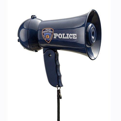 Dress up America - Megáfono de Juguete de Agente de policía con Sonido de Sirena y micrófono de Mano, Color Azul (910)