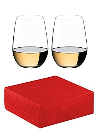 Riedel O Riesling / Sauvignon blanc White Wine Tumbler (Set of 2) + gift (Merlot White Zinfandel Vino)