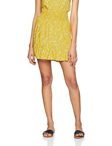 Blend She Damen Rock Yellow R Sk, Gelb (Printed 29100), 38 (Herstellergröße: M)