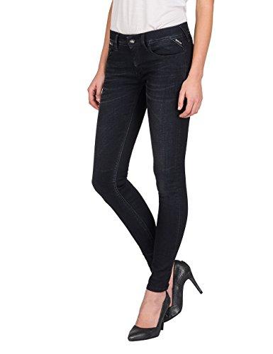 Replay Damen LUZ Coin Zip Skinny Jeans, Schwarz (Black 98), W27/L32 -